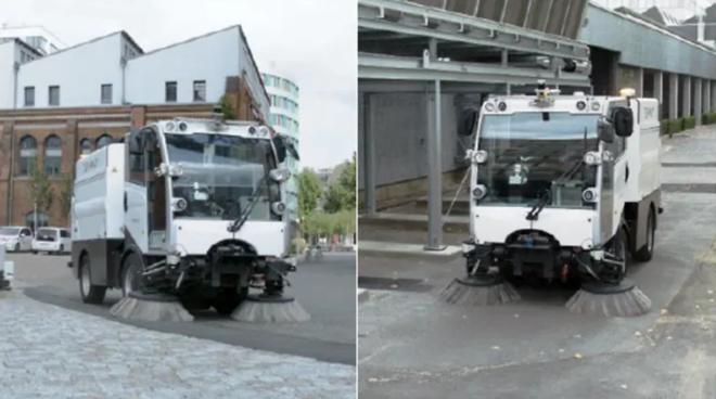 Mô phỏng phương tiện làm sạch đường phố tự lái mà Singapore sắp thử. ẢNH: DULEVO INTERNATIONAL