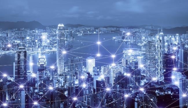 Mạng kết nối kinh doanh cho khái niệm thành phố thông minh Hồng Kông - Ảnh : Shutterstock