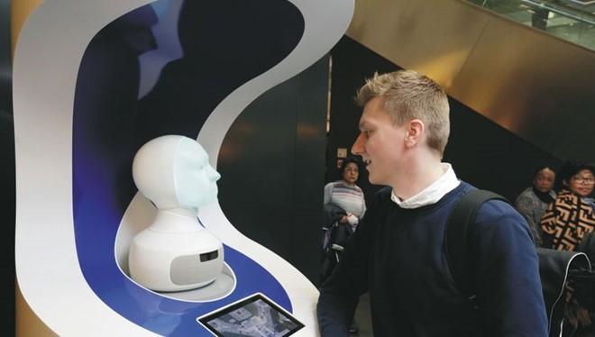 Đầu robot được thử nghiệm tại Sân bay Frankfurt (ảnh:FRAPORT)