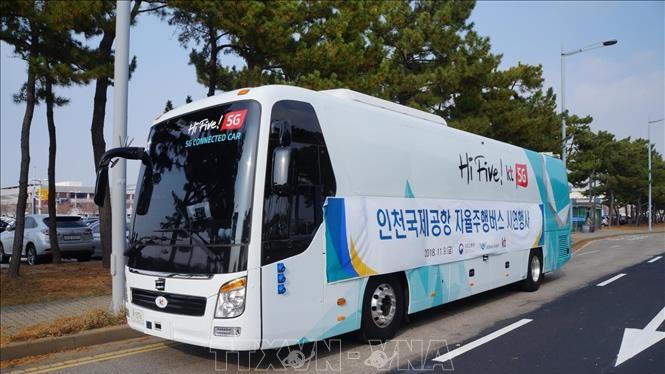Xe buýt tự lái tại Seoul, Hàn Quốc. Ảnh minh họa: YONHAP/TTXVN