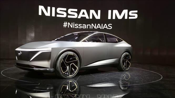 Mẫu ô tô của hãng Nissan được giới thiệu tại Triển lãm ô tô quốc tế Bắc Mỹ ở Detroit, Mỹ, ngày 14/1/2019. Ảnh: THX/TTXVN