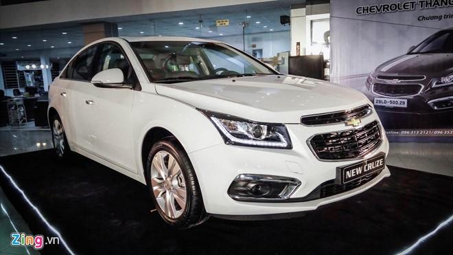 7.584 xe Chevrolet Cruze và Orlando bị triệu hồi tại Việt Nam vì lỗi túi khí.
