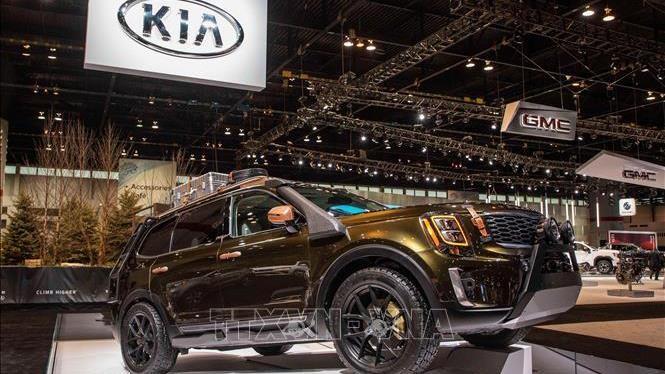 Mẫu xe của hãng Kia được giới thiệu tại Triển lãm ô tô Chicago, Mỹ, ngày 7/2/2019. Ảnh: THX/TTXVN