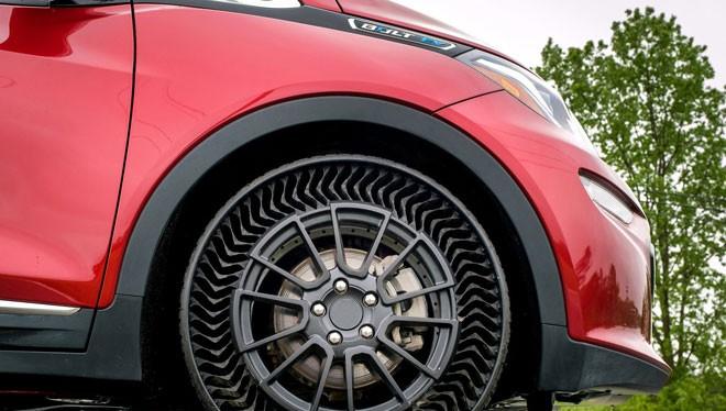 Lốp xe không cần bơm sẽ là tương lai của ô tô