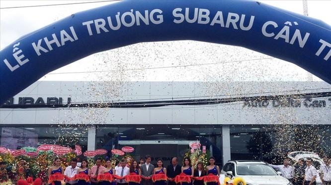 Lễ khai trương showroom 3S đầu tiên của Subaru tại ĐBSCL. Ảnh: Tr.N