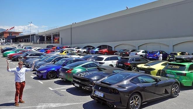 Mốt số lượng lớn siêu xe bị cảnh sát Monaco tịch thu, đưa về bãi tập kết này.