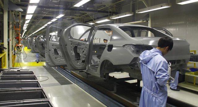 Quang cảnh một nhà máy ô tô ở Trung Quốc