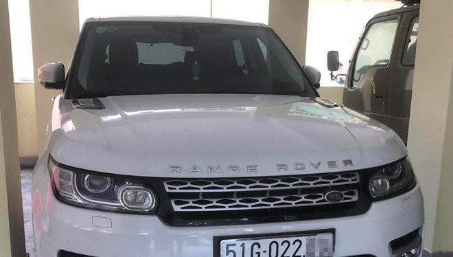 Chiếc Range Rover Evoque bị thu giữ từ Công ty CP địa ốc Alibaba do Nguyễn Thái Luyện làm chủ tịch HĐQT