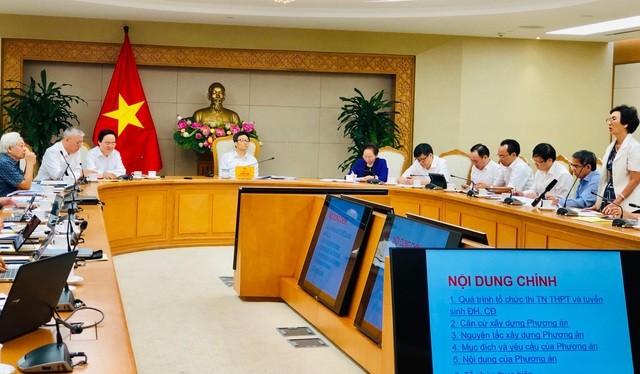 Hội đồng Quốc gia Giáo dục và Phát triển đã họp bàn về thi tốt nghiệp THPT quốc gia sau 2020 với sự chủ trì của Phó Thủ tướng Vũ Đức Đam. Ảnh: Dân Trí