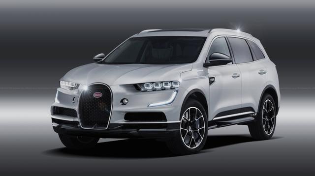 Bản vẽ đồ họa ý tưởng về một mẫu SUV mang thương hiệu Bugatti