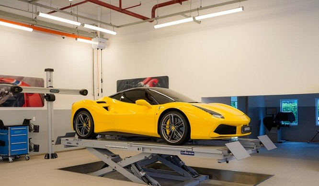 Hiện mới chỉ có trung tâm bảo dưỡng chính thức của Ferrari tại Việt Nam