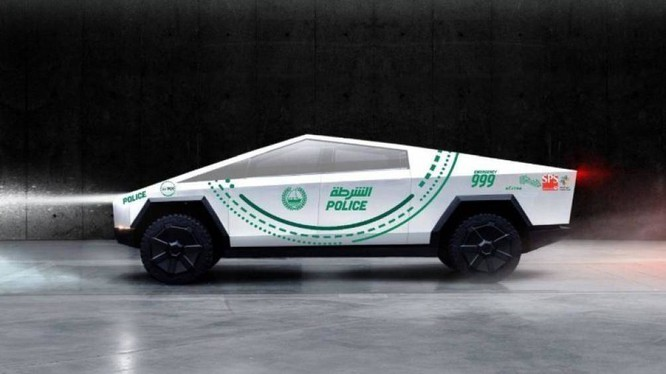 Siêu bán tải chạy điện Tesla Cybertruck sẽ bảo vệ du khách và người dân Dubai kể từ năm sau