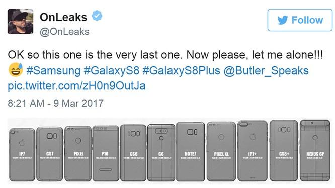 Kích thước các mẫu điện thoại cao cấp của Samsung, Apple và Google