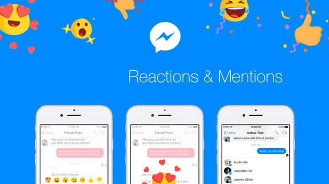 Messenger được bổ sung tính năng Để cập và Phản ứng