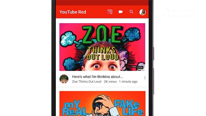 Giao diện YouTube mới trên Android
