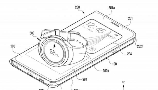 Bằng sáng chế của Samsung hé lộ bao da có thể sạc không dây cho đồng hồ thông minh
