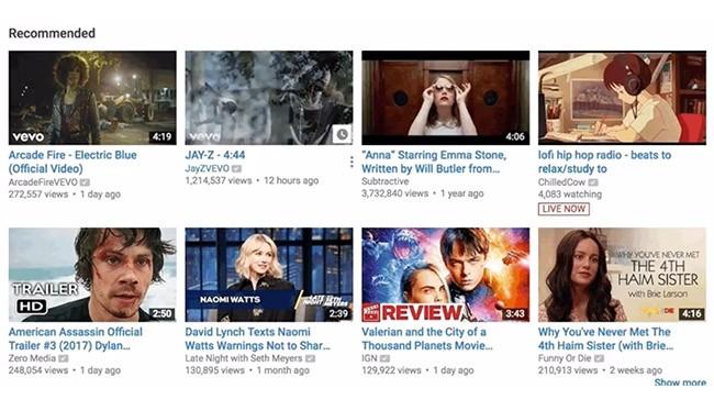 YouTube đã cải tiến hiển thị hình đại diện thu nhỏ của video