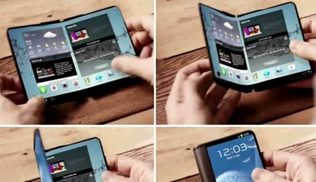 Điện thoại dẻo của Samsung sắp được ra mắt (ảnh Android Headlines)