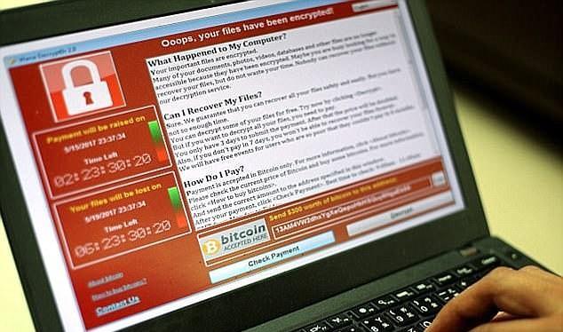 mã độc WannaCry lại một lần nữa tái xuất? (ảnh: Daily Mail)