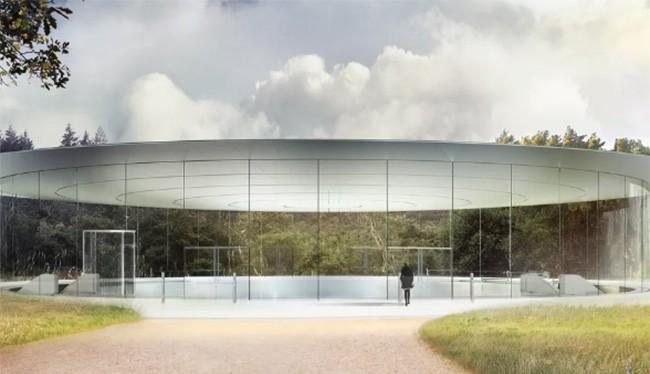 Phần nổi trên mặt đất của nhà hát Steve Jobs (ảnh: The Verge)