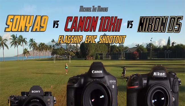 Các máy ảnh flagship của Sony, Canon và Nikon (ảnh: PetaPixel)