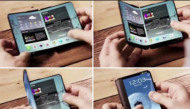 Điện thoại dẻo của Samsung sắp được công bố? (ảnh: YouTube)
