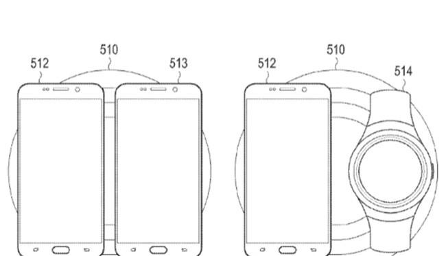 hình ảnh sạc không dây trong đơn xin cấp bằng sáng chế Samsung gửi cho USPTO (ảnh: Phone Arena)