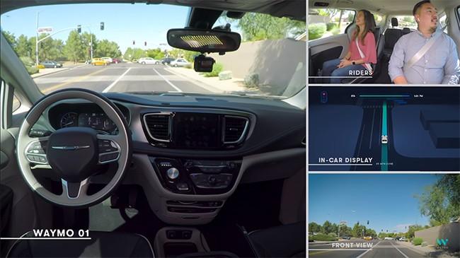 Xe taxi Waymo tự lái mà không cần người giám sát (ảnh: YouTube)
