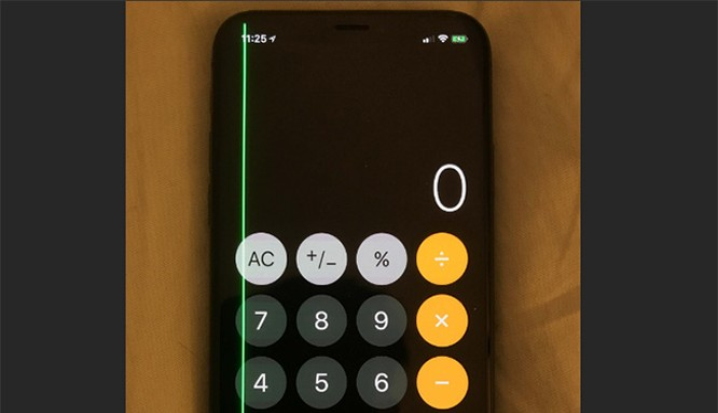 Một số iPhone X đang bị lỗi sọc màn (ảnh: Phone Arena)