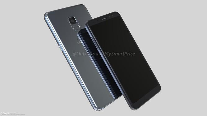 Ảnh dựng Galaxy A5 và A7 (2018). Nguồn: Onleaks