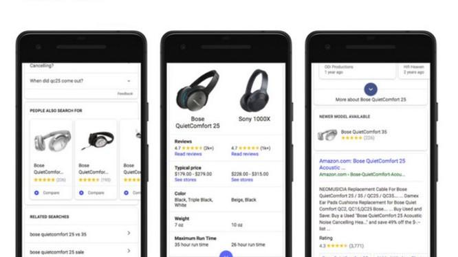 Google bổ sung thêm công cụ hỗ trợ mua sắm (ảnh: Phone Arena)