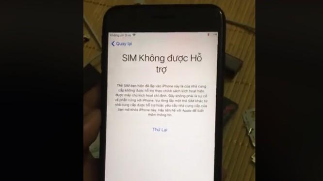 Sim ghép bị vô hiệu hóa, người dùng không thể kích hoạt iPhone Lock (ảnh: Facebook)