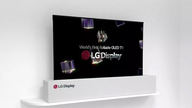 tivi cuộn lại được của LG (ảnh: LG Display)
