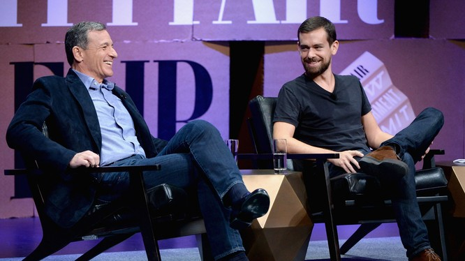 CEO Twitter Jack Dorsey và CEO Disney Bob Iger (ảnh: Business Insider)