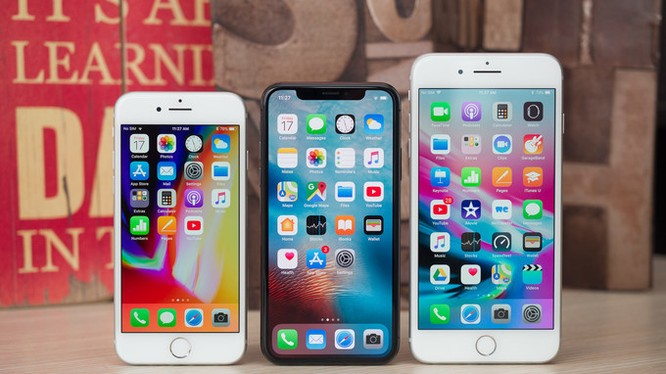 iPhone 8, 8 Plus và iPhone X (ảnh: Phone Arena)