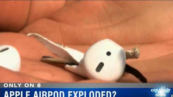 Tai nghe AirPods phát nổ (ảnh YouTube)