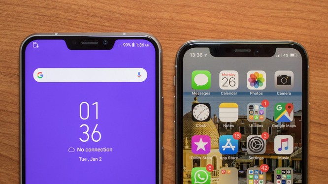 Huawei P20 Pro và iPhone X (ảnh: CNET)