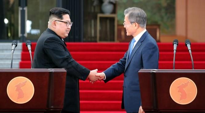 Hai nhà lãnh đạo Hàn Quốc - Triều Tiên đã tìm được tiếng nói chung trong nhiều vấn đề quan trọng (ảnh: NK News)