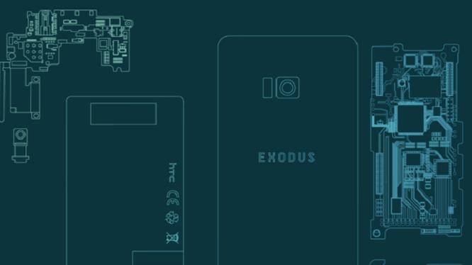 Điện thoại Exodus của HTC được thiết kế dành riêng cho giới mua bán tiền ảo (ảnh: Phone Arena)