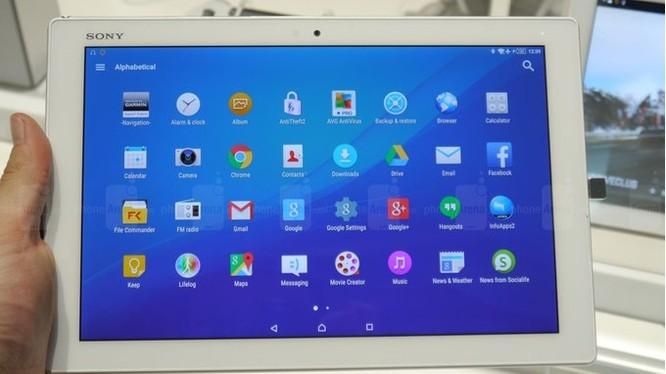 Mẫu máy tính bảng Sony Xperia Z4 ra mắt năm 2015 (ảnh: Phone Arena)