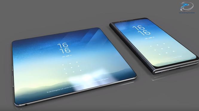Điện thoại dẻo Samsung có thể sẽ có hình dáng như thế này (ảnh: Forbes)