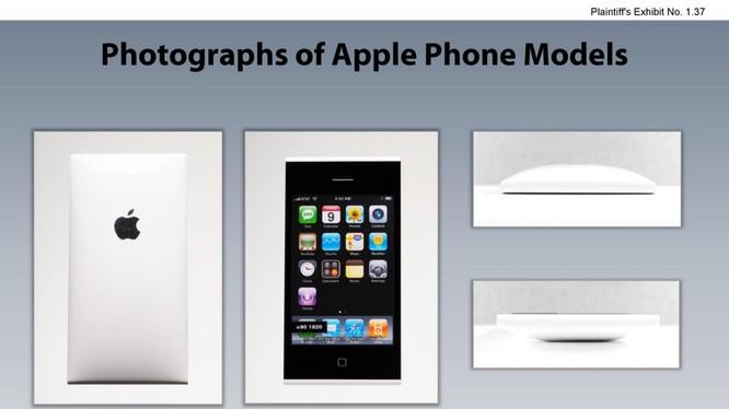 Một mẫu thiết kế iPhone mà Apple đã đệ trình lên tòa án Mỹ (ảnh: Business Insider)