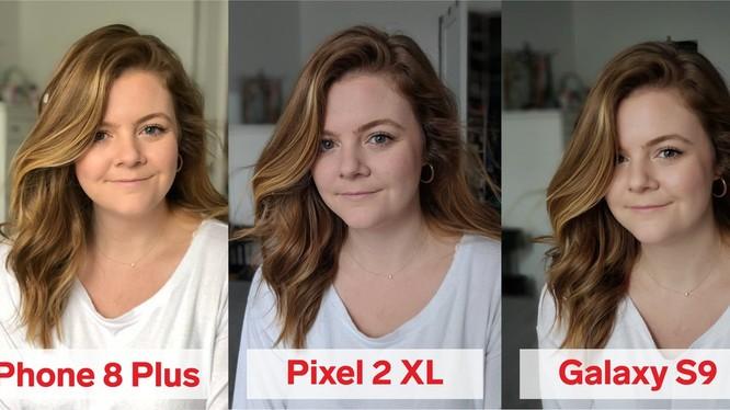 So sánh chế độ chụp chân dung từ 3 mẫu smartphone hàng đầu (ảnh: Business Insider)