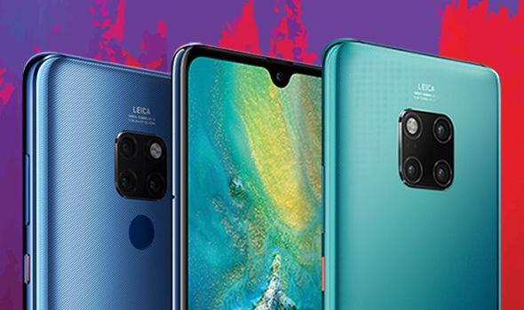 Bộ đôi sản phẩm dòng Mate vừa được Huawei cho ra mắt ngày hôm qua (ảnh: Daily Express)