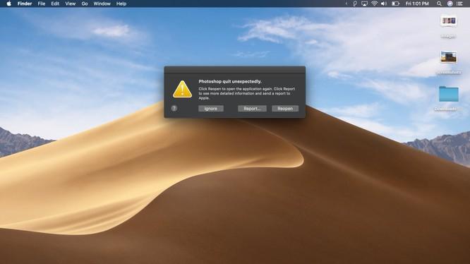 Một số ứng dụng đời cũ không tương thích với MacOS Mojave