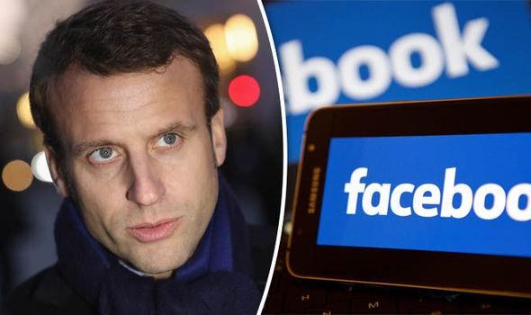 Tổng thống Pháp Emmanuel Macron đã đạt được thỏa thuận về việc giám sát nội dung với Facebook (ảnh: Daily Express)