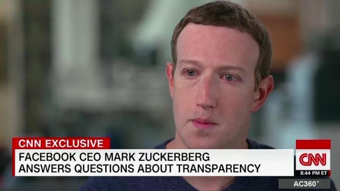 """CEO Facebook khẳng định """"sẽ không đi đâu cả"""" (ảnh: CNN)"""