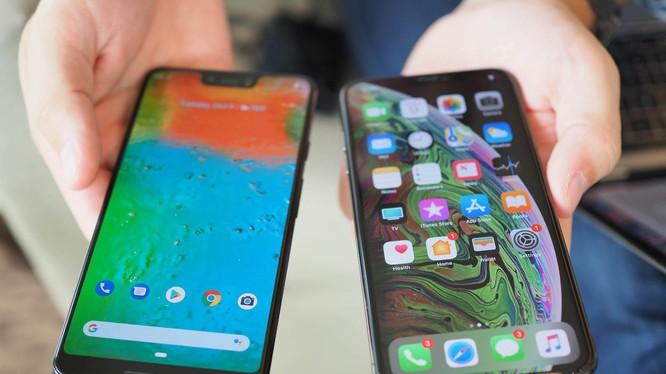 Pixel 3 XL và iPhone XS (ảnh: iMore)
