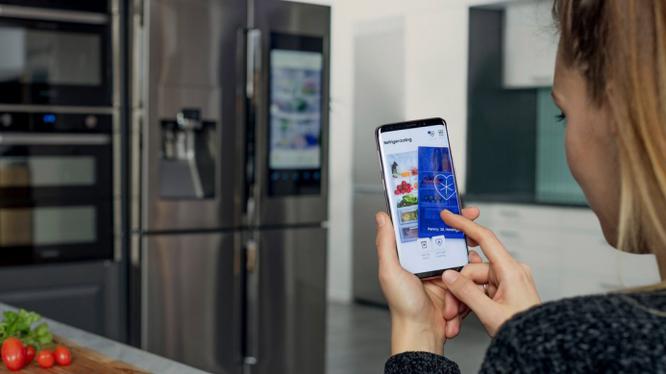 người độc thân có thể hẹn hò qua tủ lạnh (ảnh: Samsung)