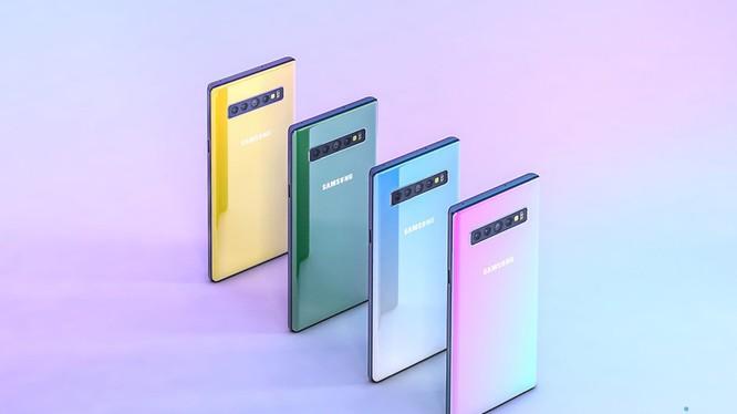 ảnh dựng theo tin đồn về Galaxy Note 10 (Phone Arena)